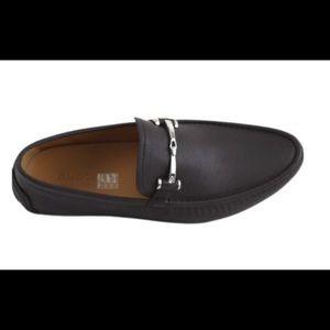 Men's Gucci Black Driver Moc Shoes Size 9.5.